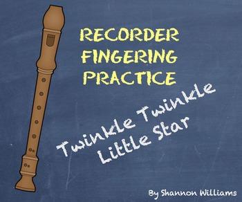 Twinkle Twinkle Little Star - Recorder Fingering Practice