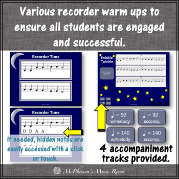 Twinkle, Twinkle Little Star - Recorder PowerPoint Visuals (Notes DEF#GAB)