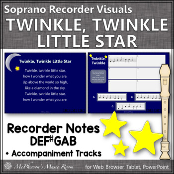 Twinkle, Twinkle Little Star - Recorder PowerPoint Visuals