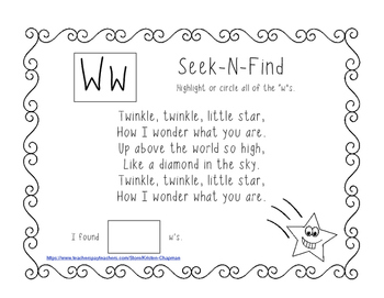 Twinkle Twinkle Little Star Shared Reading