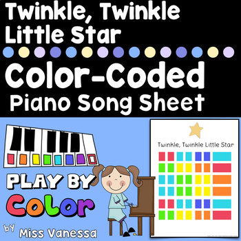 Twinkle, Twinkle Little Star Color-Coded Song Sheet