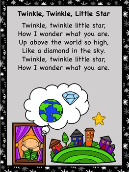 Twinkle, Twinkle Little Star Nursery Rhyme Pack US