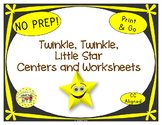 Twinkle Twinkle Little Star Worksheets Activities Games Pr