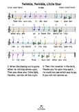 Twinkle Little Star (D) tabs 4 recorder ocarina guitar uku