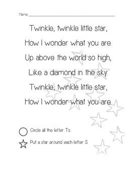 Twinkle, Twinkle Sub Plans