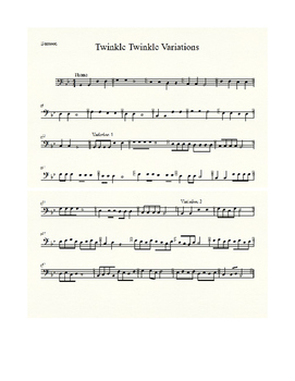 Twinkle Twinkle Theme and Variations for Beginning Band (unison)
