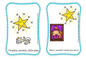 Twinkle,twinkle little star flash cards(free for 24 hours)