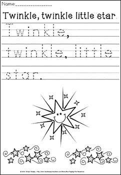 Twinkle,twinkle little star writing(free for 24 hours)
