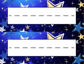 Twinkling Stars Desk Name Tag Plates Set