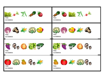 Fruits and vegetables Twins Speaking activity