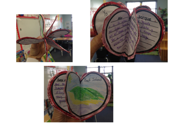 Twirling Hearts Valentines  - Spanish bilingual, DLE