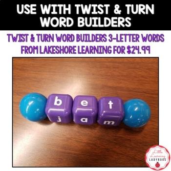 Twist & Turn Word Builders CVC Word Work