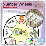 Twist and learn 1-10 number wheels (large circles)