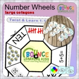 Twist and learn 1-10 number wheels (large octagons)