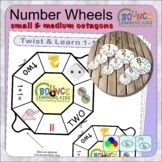Twist and learn 1-10 number wheels (small octagons)