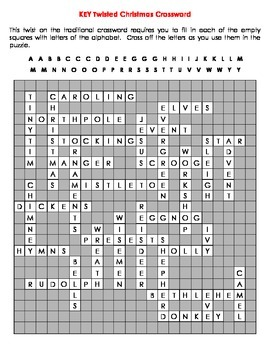 Twisted Christmas Crossword