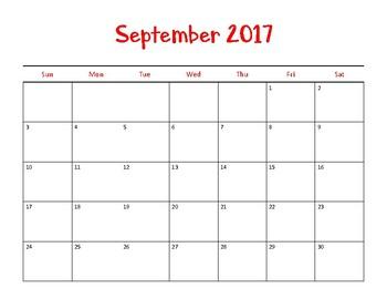 Twisted Classroom Calendar