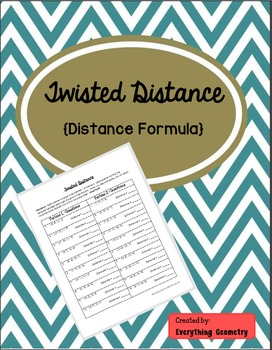 Twisted Distance Formula