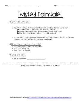 Twisted Fairytale Project! - EDITABLE!