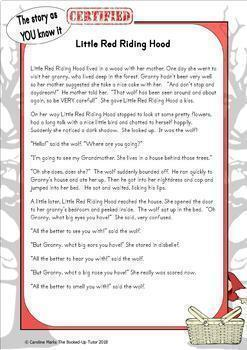 {Fractured Fairy Tale Writing} {Fractured Fairy Tales} {Little Red Riding Hood}