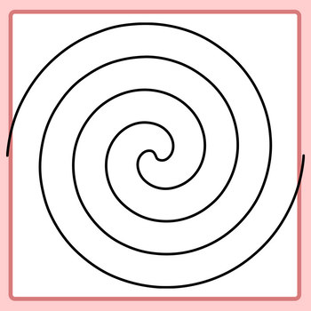 Twisted Spiral Lines Clip Art Set for Commercial Use