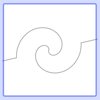 Twisted Tracing Lines for Left to Right Progression and Pen Control Clip Art Set