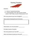 Twisted Twizzlers- A Fraction Activity