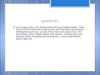 75 Journal Prompts For Daily High School Use