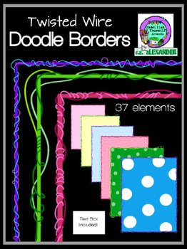 Twisted Wire Doodle Borders (Embellish Yourself Artworks)