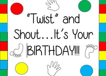 Twister Birthday Sign