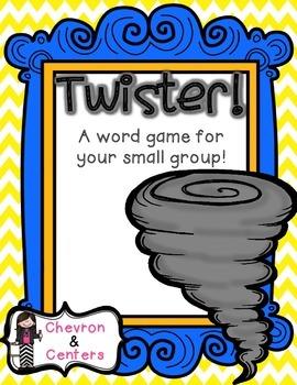 Twister!  Literacy game FREEBIE