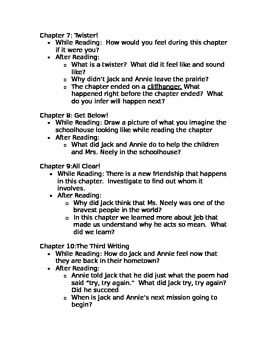 Twister on Tuesday Guided Reading Questions