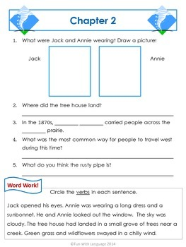 Twister on Tuesday Magic Tree House #23 Comprehension Novel Study