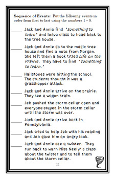 Twister on Tuesday : Magic Tree House #23 Novel Study / Comprehension (27 pages)