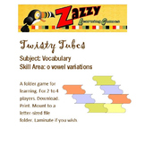 Twisty Tubes Folder Game Vocabulary o-vowel variations