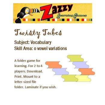 Twisty Tubes Folder Game Vocabulary o-vowel variations