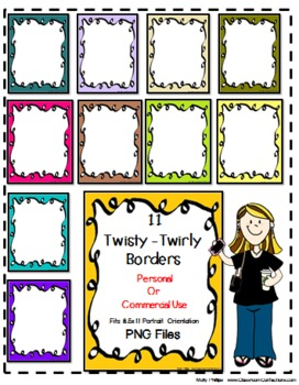 Twisty-Twirly Doodle Borders {Personal or Commercial Use}