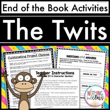 The Twits: End of the Book Reading Response Activities and