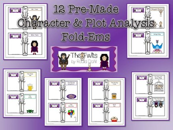 Twits by Roald Dahl Character & Plot Analysis Fold-Ems