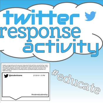 Twitter Activity- Blank Tweet for reading/writing responses
