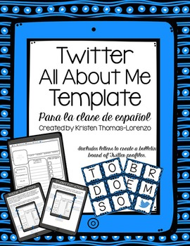 Twitter All About Me Template - Spanish