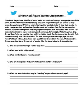 Twitter Assignment for Historical Figures