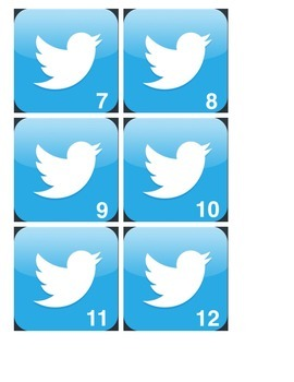 Interactive Twitter Bulletin Board Icon Cards