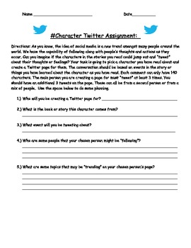 Twitter Character Assignment