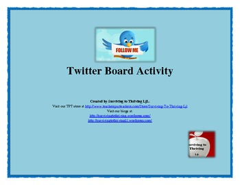 Twitter Classroom Activity - Free, Free, Free