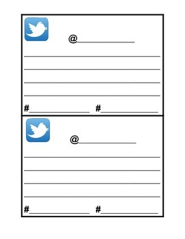Twitter Exit Card Template