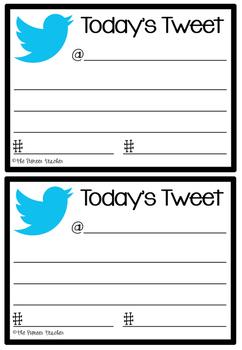 Today's Tweet Exit Cards