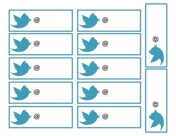 Twitter Exit Slip Bulletin Board