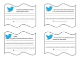 Twitter Exit Tickets - Students Self Assess