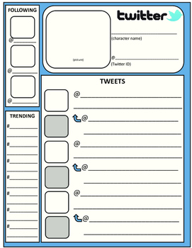 Twitter Feed Template by The Dream Team - Secondary English | TpT